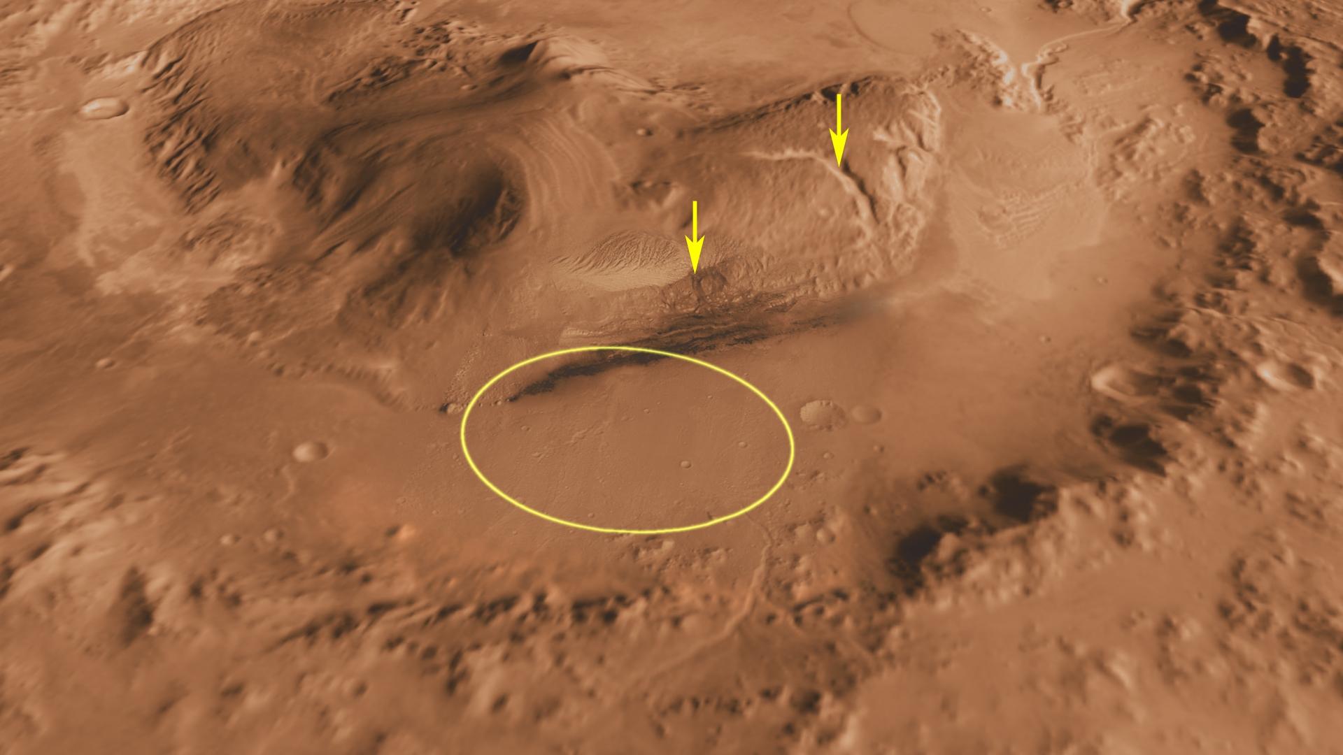 Le prochain rover de la NASA doit atterrir dans le cratère ...
