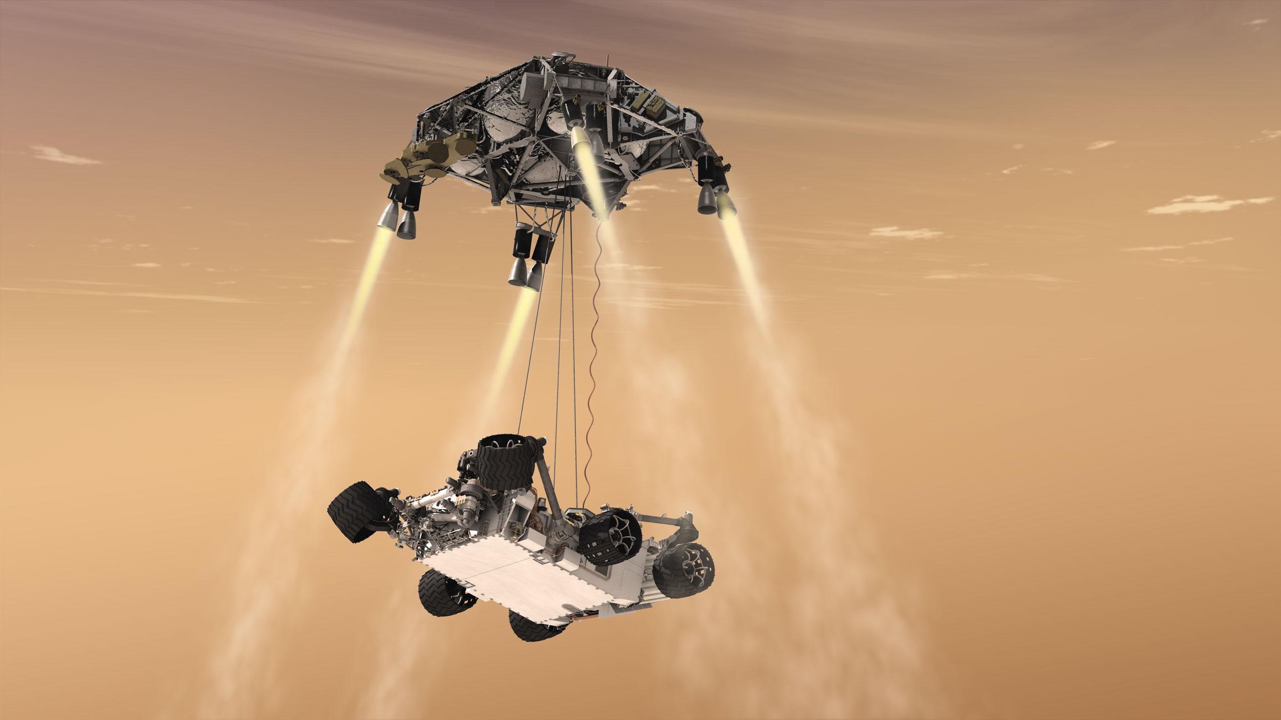 mars rover sky crane - photo #1