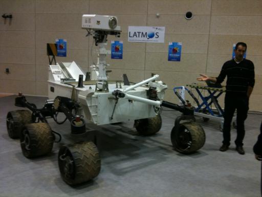 Maquette MSL-Curiosity au LATMOS Oct.2012