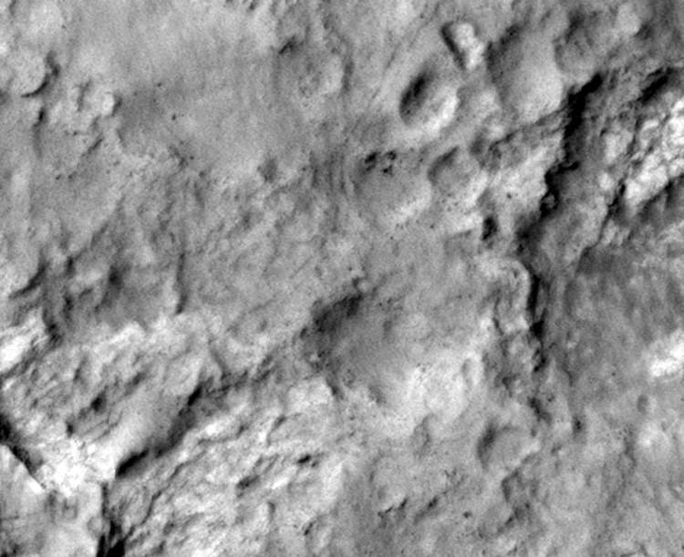 Curiosity par MRO détail traces