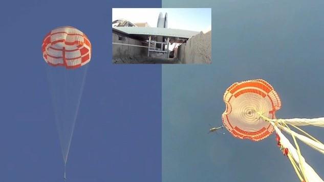 Test parachute de 33,5 m