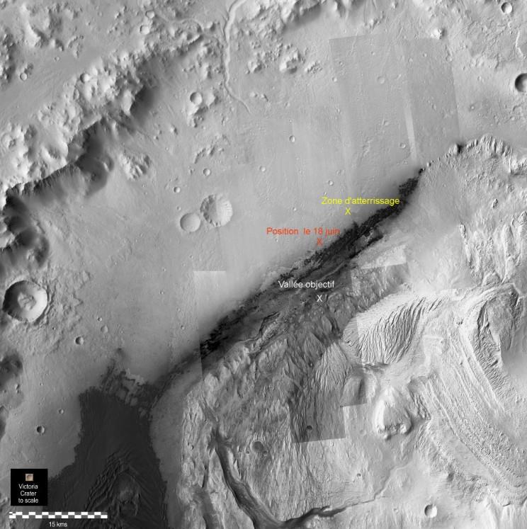 gale par hirise position Curiosity 18 juin