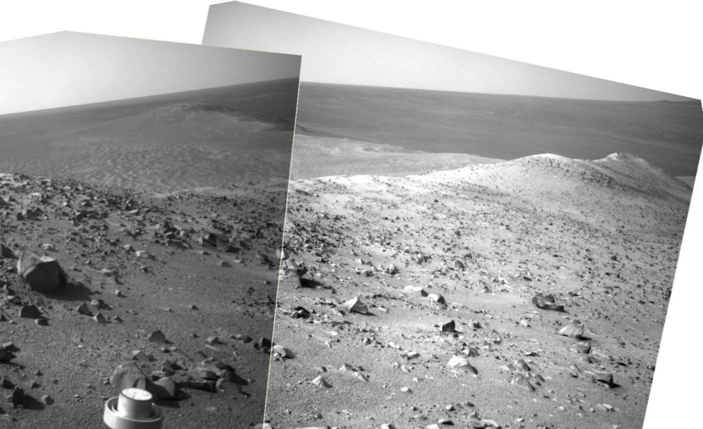 Le bord  du cratère Endeavour Nav 3789