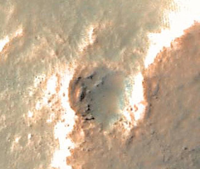 Le cratère depuis l'orbite