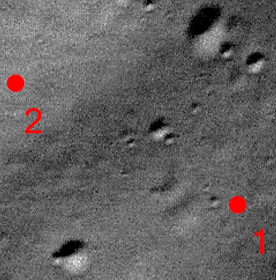 Détail site atterrissage Phobos Grunt