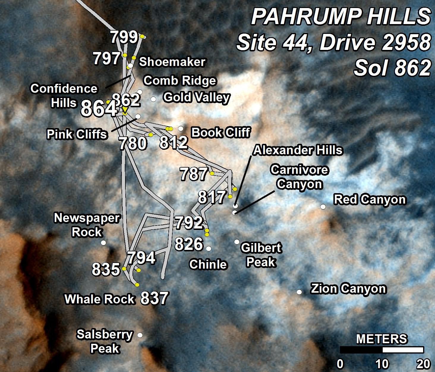 Détail zone Parhump hills